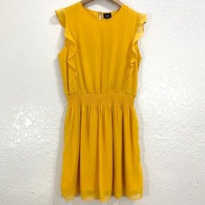 Mossimo Marigold Yellow Ruffle Sleeve Dress